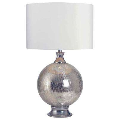 Caroline 28 in. Table Lamp with white fabric shade