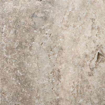Trav Ancient Tumbled Silver 15.98 in. x 15.98 in. Travertine Floor and Wall Tile (1.78 sq. ft.)