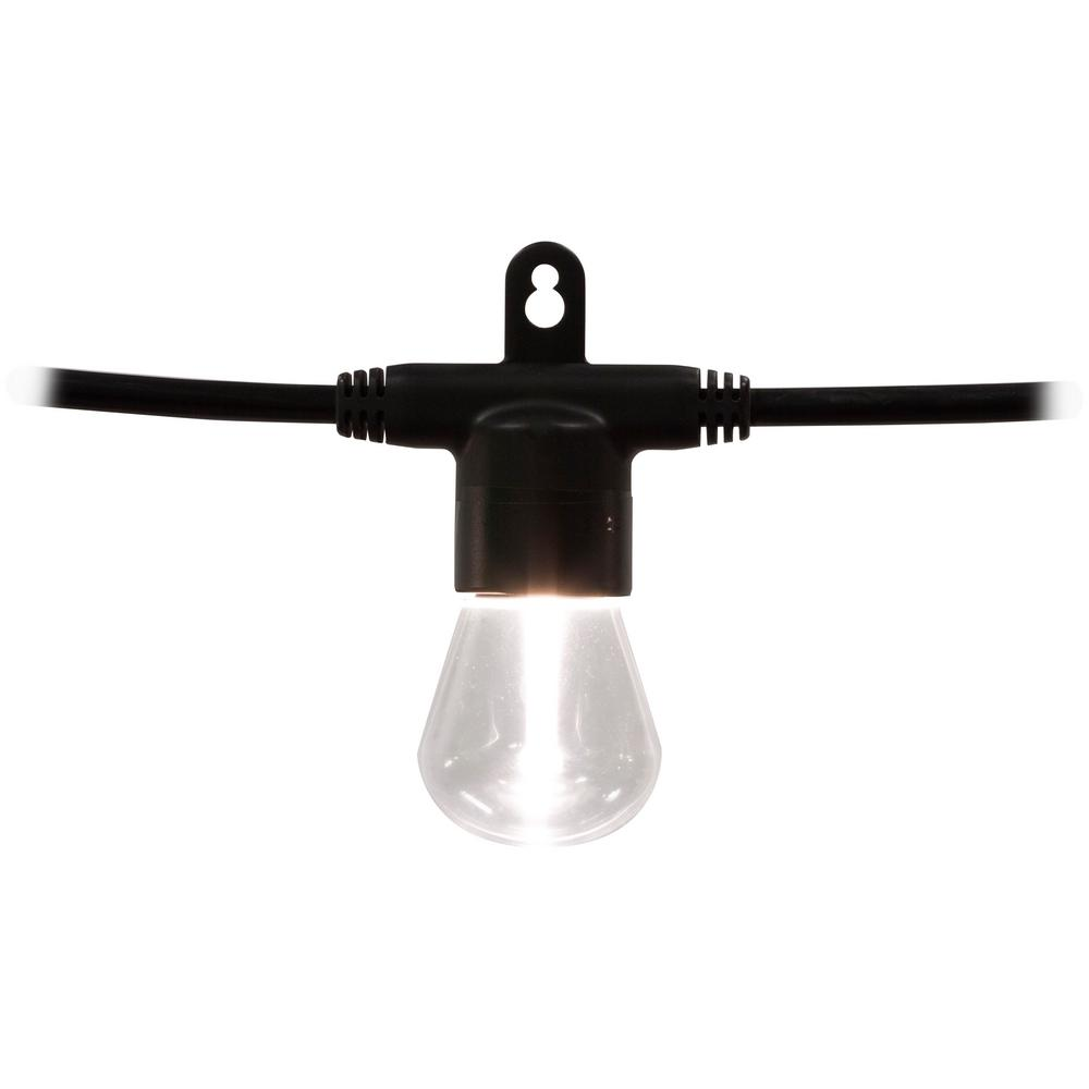 6-Bulb 12 ft. Black Integrated LED Bistro String Light