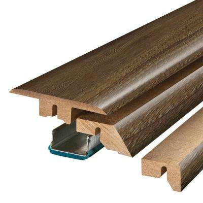 Hudson Brown Oak 3/4 in. Thick x 2-1/8 in. Wide x 78-3/4 in. Length Laminate 4-in-1 Molding