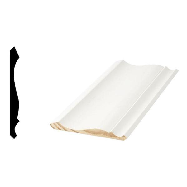 WM 45 9/16 in. x 5-1/4 in. x 96 in. Primed Finger-Jointed Crown Moulding