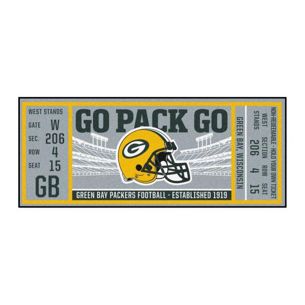 NFL - Green Bay Packers 30 in. x 72 in. Indoor Ticket Runner Rug