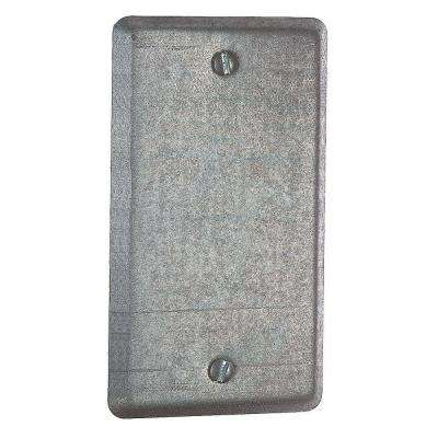 4 in. Single Gang Blank Utility Box Cover (Case of 25)