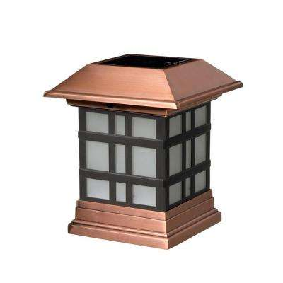 4 in. x 4 in. Dynasty Copper Solar Post Cap