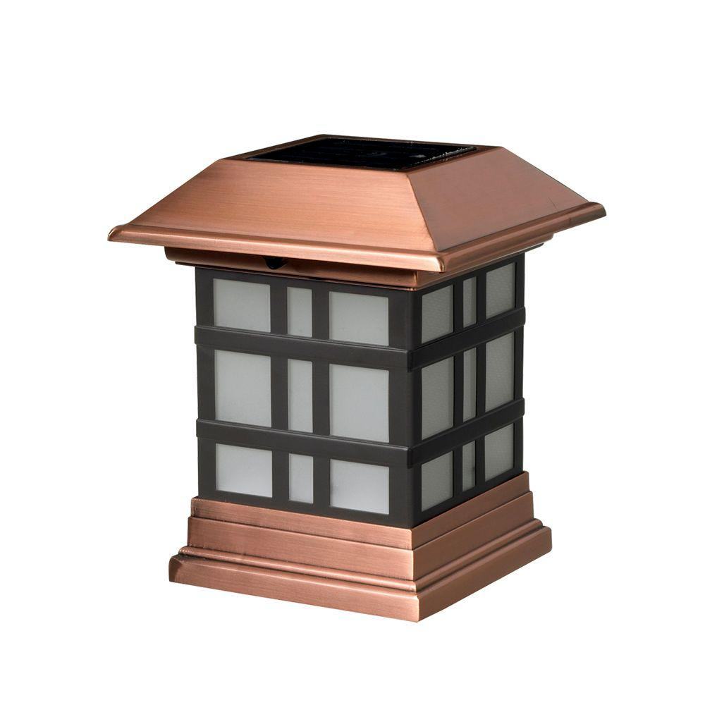 4x4 wood post Stainless Solar Post Cap by DecKorators Maine Ornamental 3-1//2