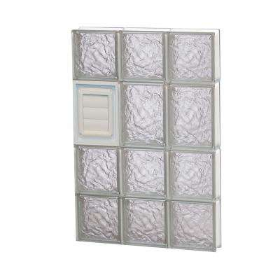 17.25 in. x 25 in. x 3.125 in. Frameless Ice Pattern Glass Block Window with Dryer Vent