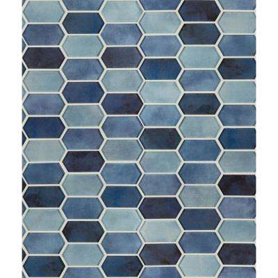 Boathouse Picket 10 in. x 12 in. x 8 mm Glass Mesh-Mounted Mosaic wall Tile ( 8.30 sq. ft. / case )