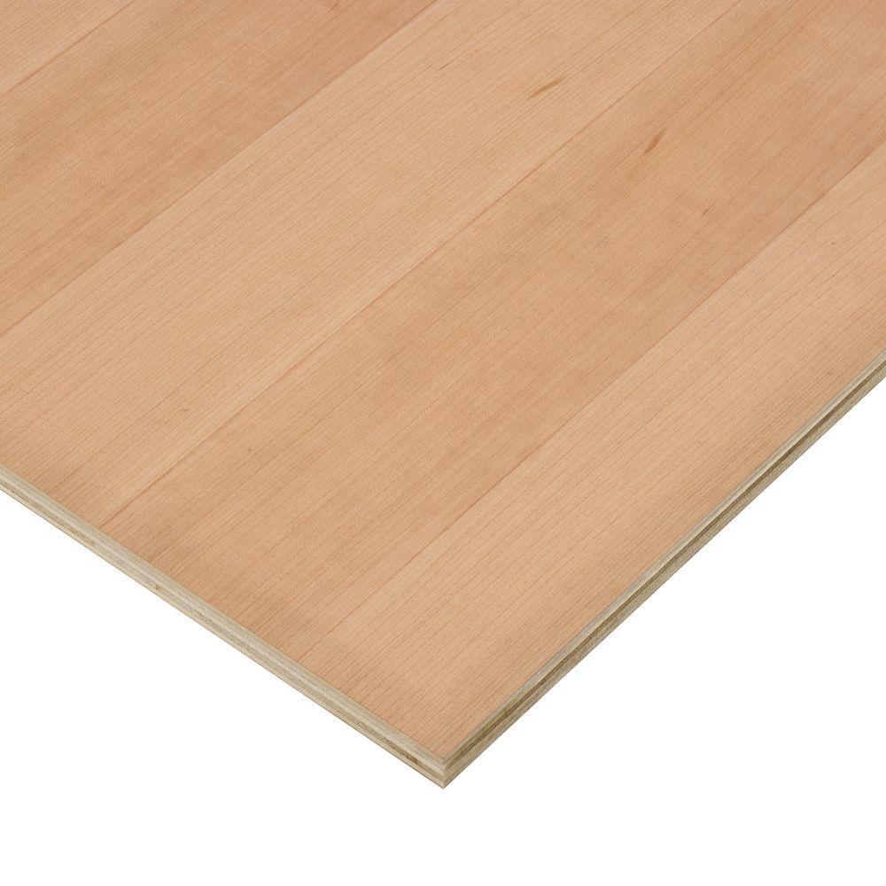3/4 in. x 2 ft. x 2 ft. PureBond Cherry Plywood