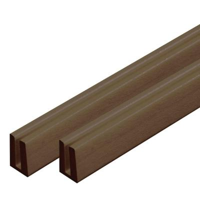 4 ft. Brazilian Walnut Vinyl Lattice Cap (2-Pack)