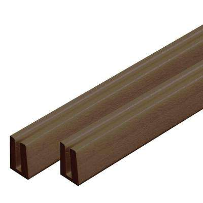 0.75 in. x 1.188 in. x 4 ft. Brazilian Walnut Vinyl Lattice Cap Moulding (2-Pack)