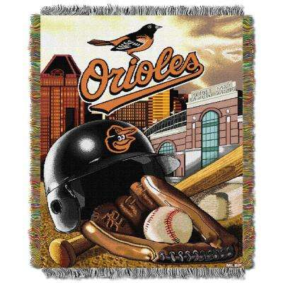 Orioles Multi Color Home Field Advantage Tapestry Throw