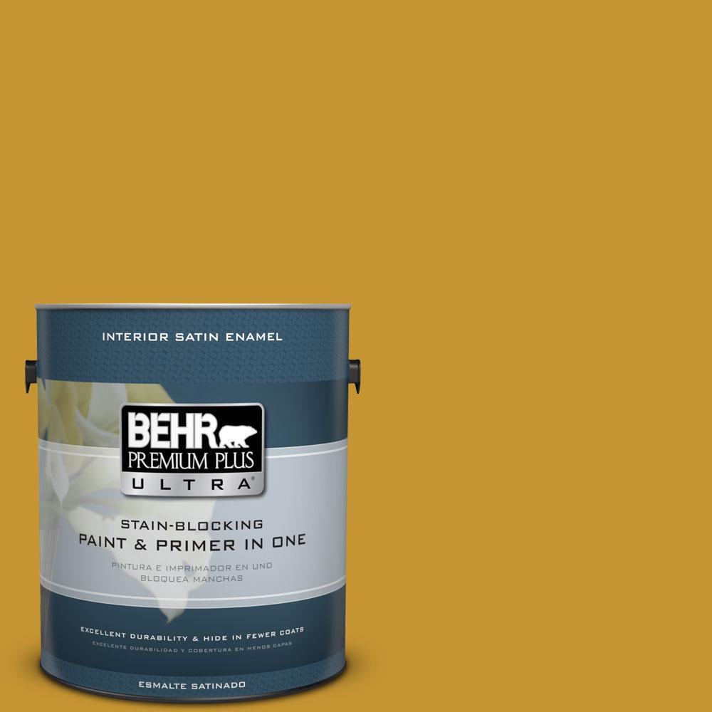 BEHR Premium Plus Ultra 1-gal. #S-H-360 Leisure Satin Enamel Interior Paint