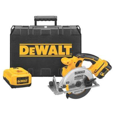 18-Volt Lithium-Ion Cordless Circular Saw Kit with Battery 2Ah, 1-Hour Charger and Case