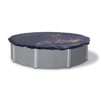 28 ft. Round Black Leaf Net Above Ground Pool Cover