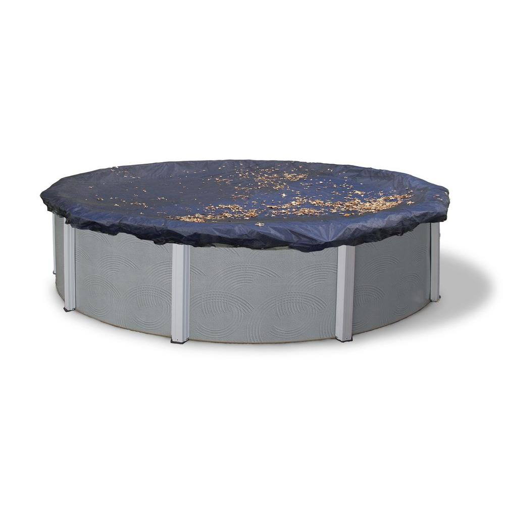 Blue Wave 28 ft. Round Black Leaf Net Above Ground Pool Cover