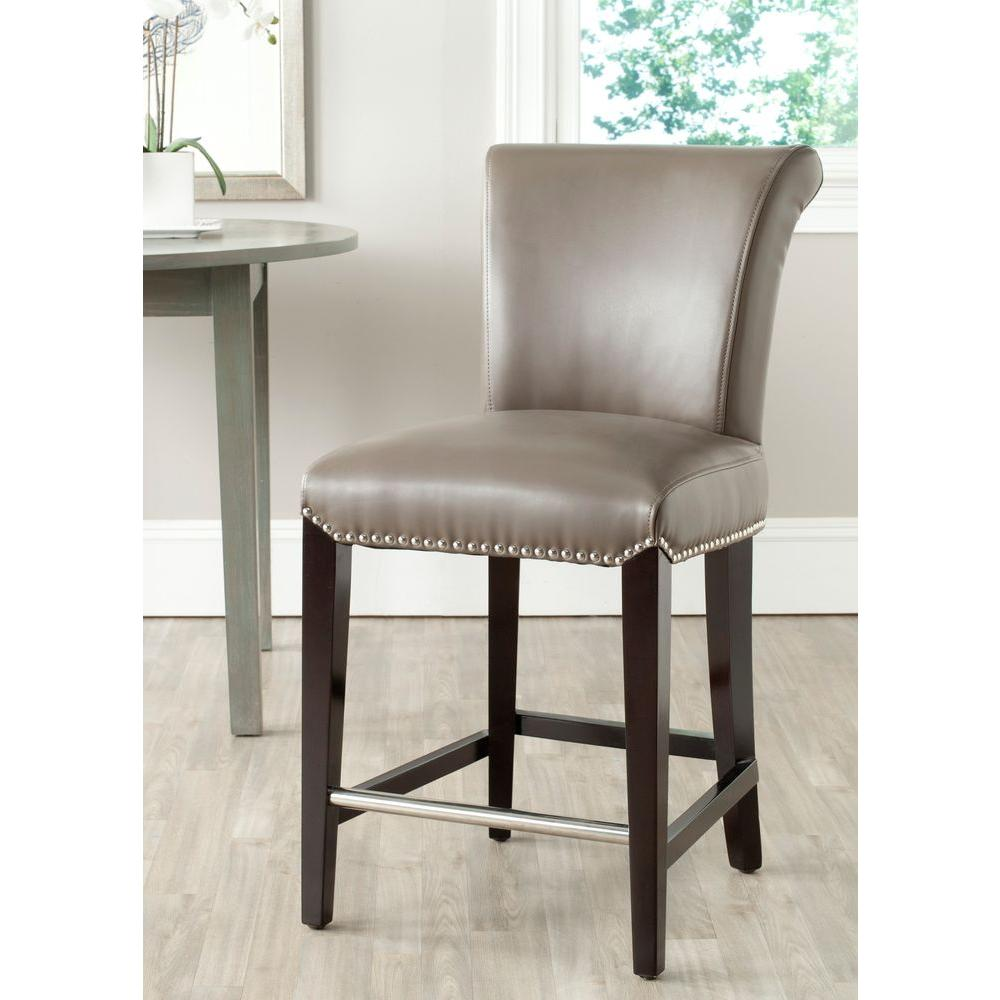 Safavieh Seth 25.9 in. Clay Cushioned Bar Stool, Clay/Brown