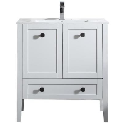 Andora 32 in. W x 18 in. D Vanity in Matte White with Ceramic Vanity Top in White with White Basin