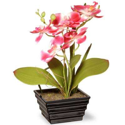 12 in. Pink Orchid Flower