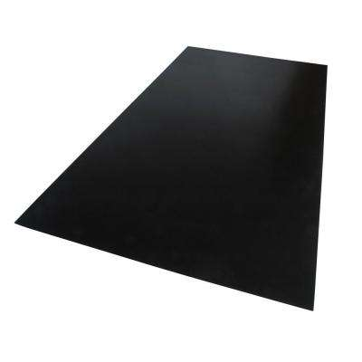 48 in. x 24 in. x 0.079 in. Foam PVC Black Sheet