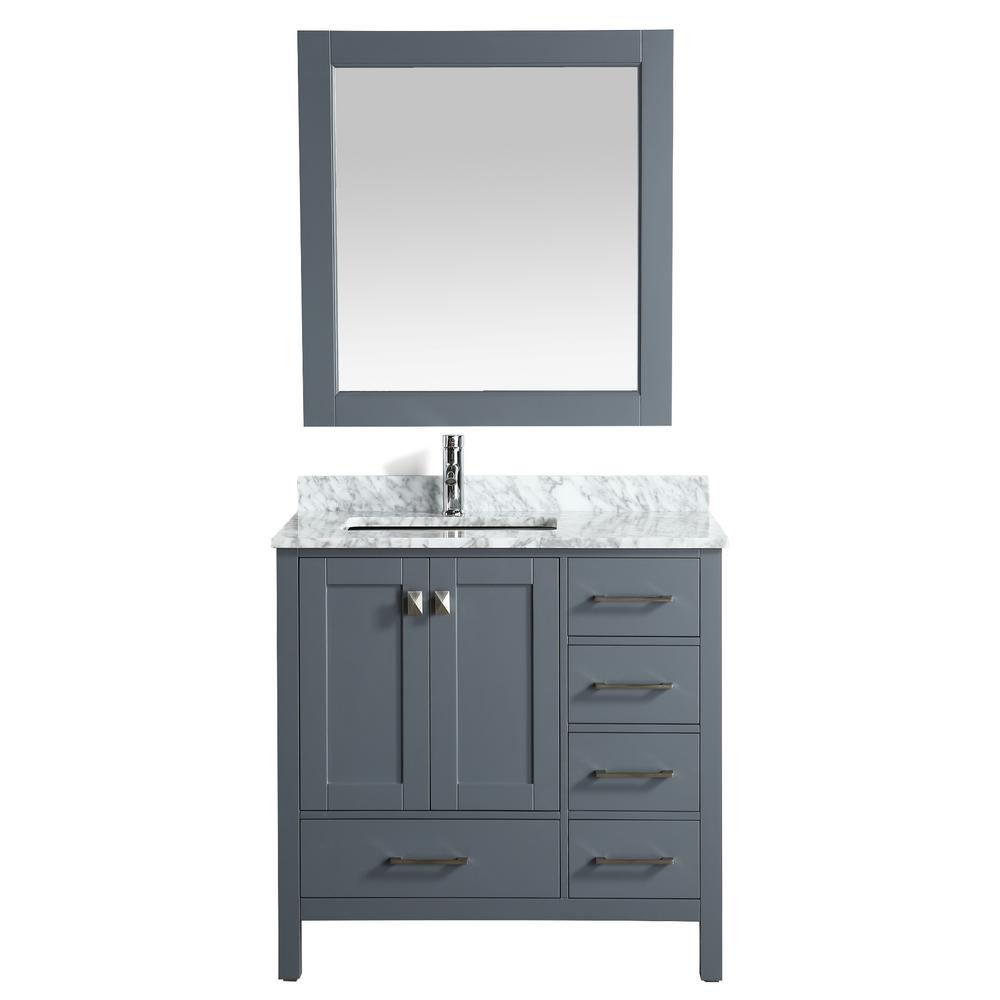 London 36 in. W x 22 in. D Vanity in Gray