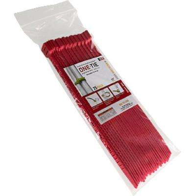12 in. Cable Ties, Red (25-Pack)