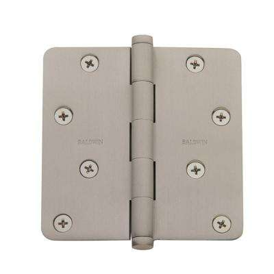 4 in. x 4 in. Satin Nickel Radius Hinge