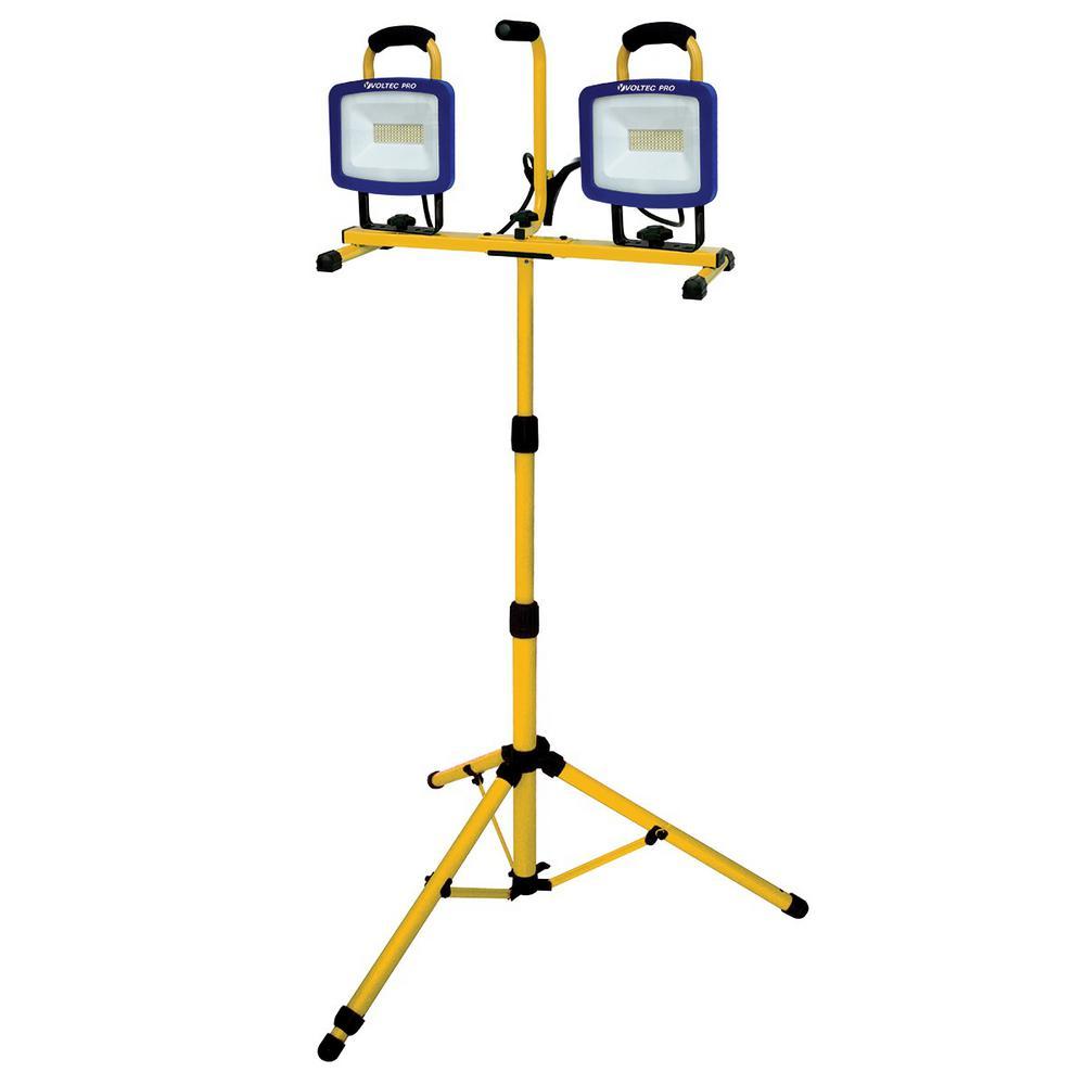 Voltec 144-Watt 13,200 Lumens AC Dual LED Tripod Work