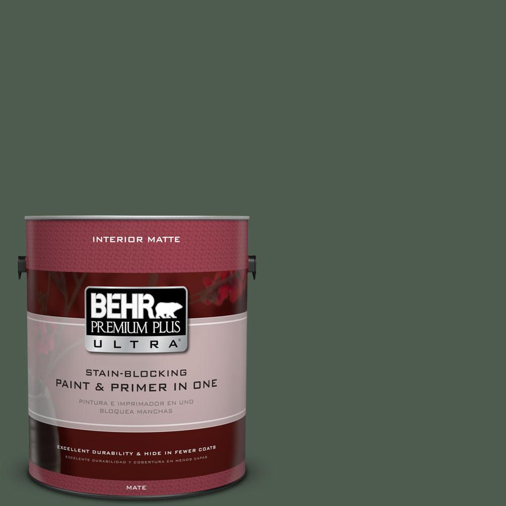 1 gal. #ECC-21-3 Imperial Palm Flat/Matte Interior Paint