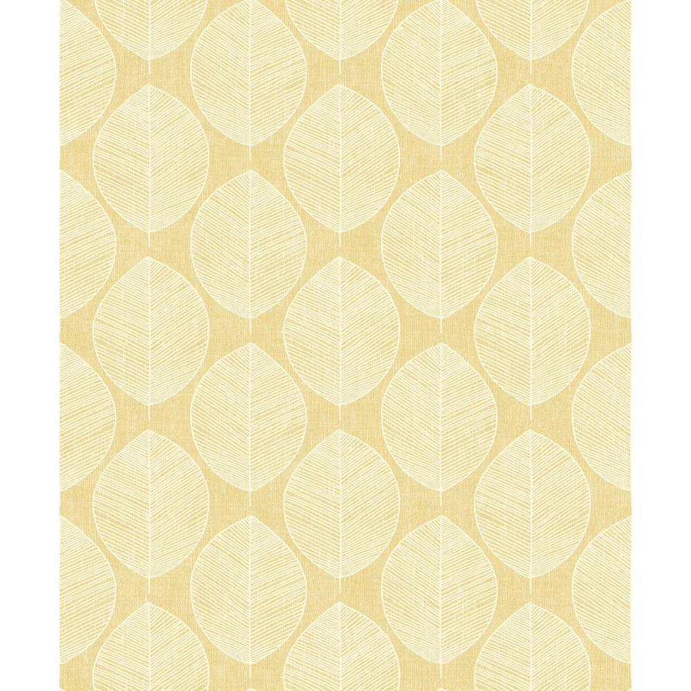 Arthouse Scandi Leaf Yellow Wallpaper 908202 The Home Depot
