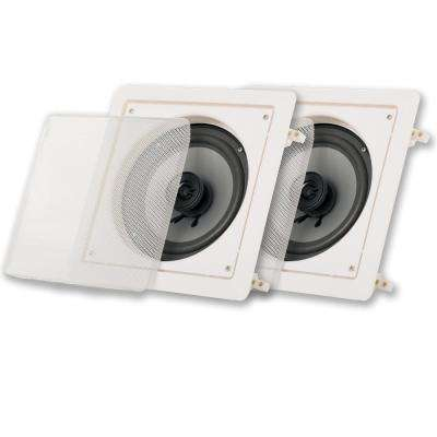 In Wall or Ceiling 6.5 in. Surround Home Theater Square Speakers