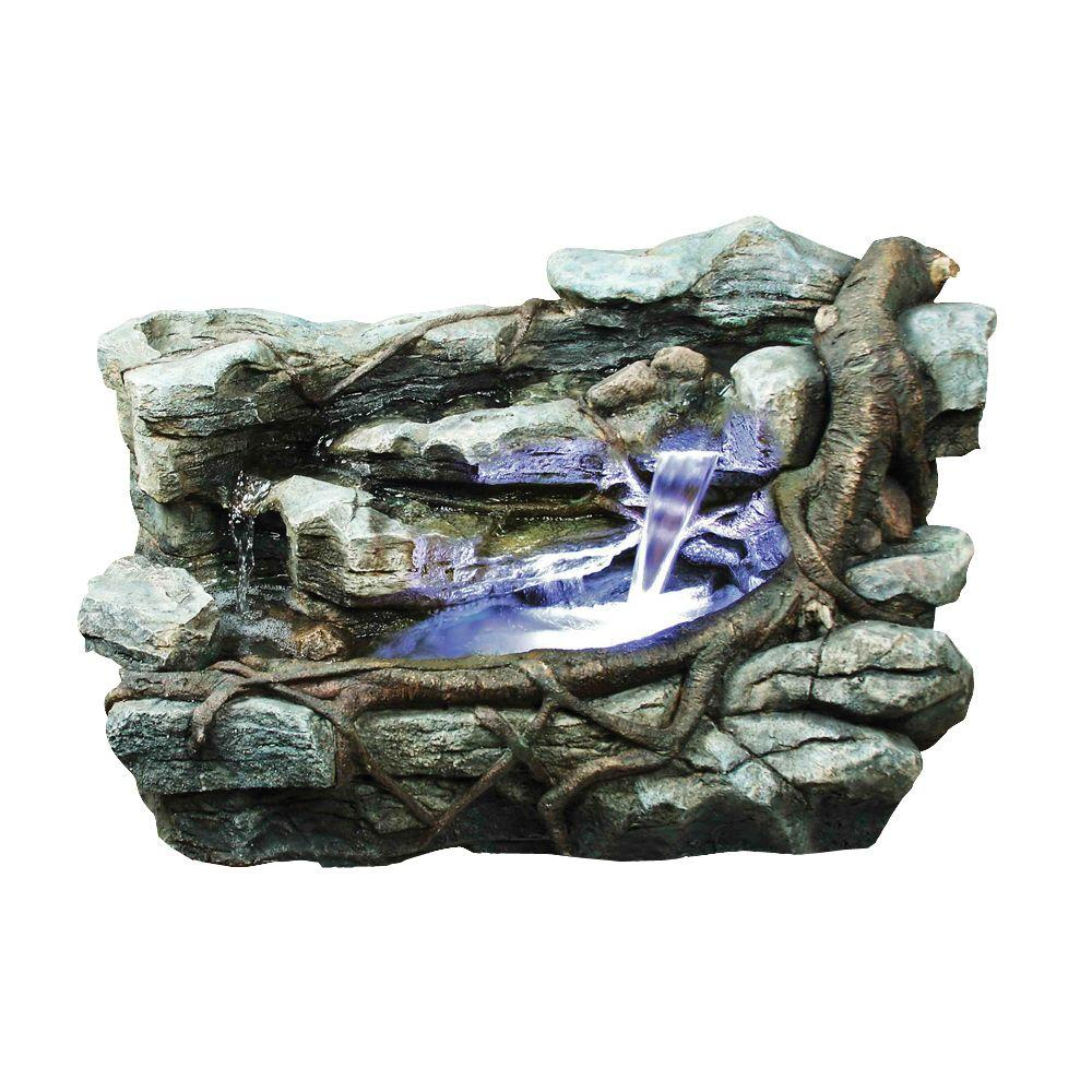 Design Toscano 39.4 in. W x 20.5 in. D x 22.5 in. H Rocks and Branch Horizontal Fountain-DISCONTINUED