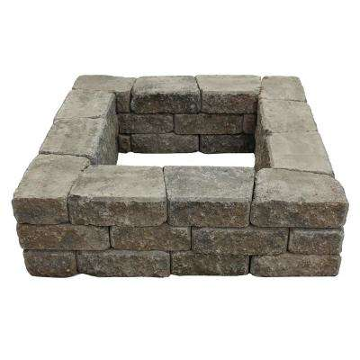 Romanstack 39 in. x 17 in. Concrete Fire Pit Wall Kit in Summit Blend