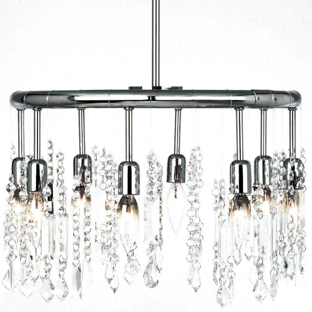 Filament Design Jonelle 8-Light Polished Chrome Chandelier with Crystal Accents