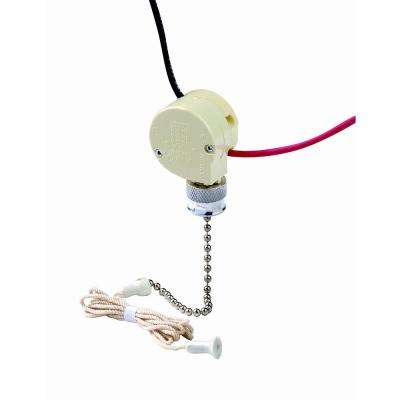 3 Amp Single-Pole Single Circuit (ON-OFF) Pull Chain Switch