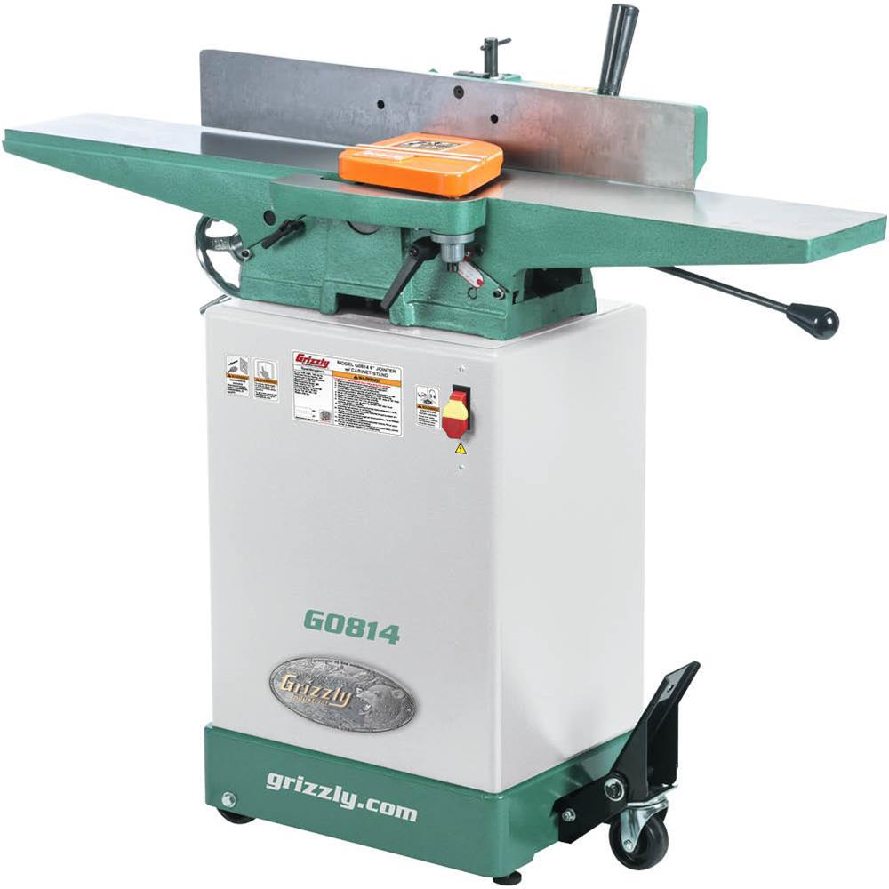 Grizzly Industrial 14 Amp/7 Amp 6 inch Corded Jointer w/ Cabinet Stand