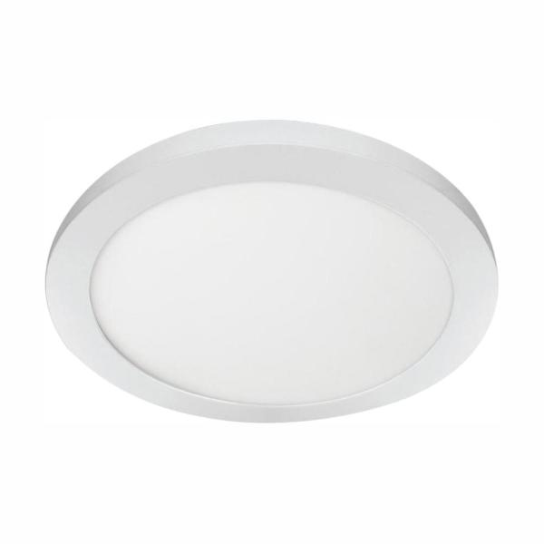 11 in. 12.5W Dimmable White Integrated LED Edge-Lit Round Flat Panel Flush Mount Ceiling Light with Color Changing CCT