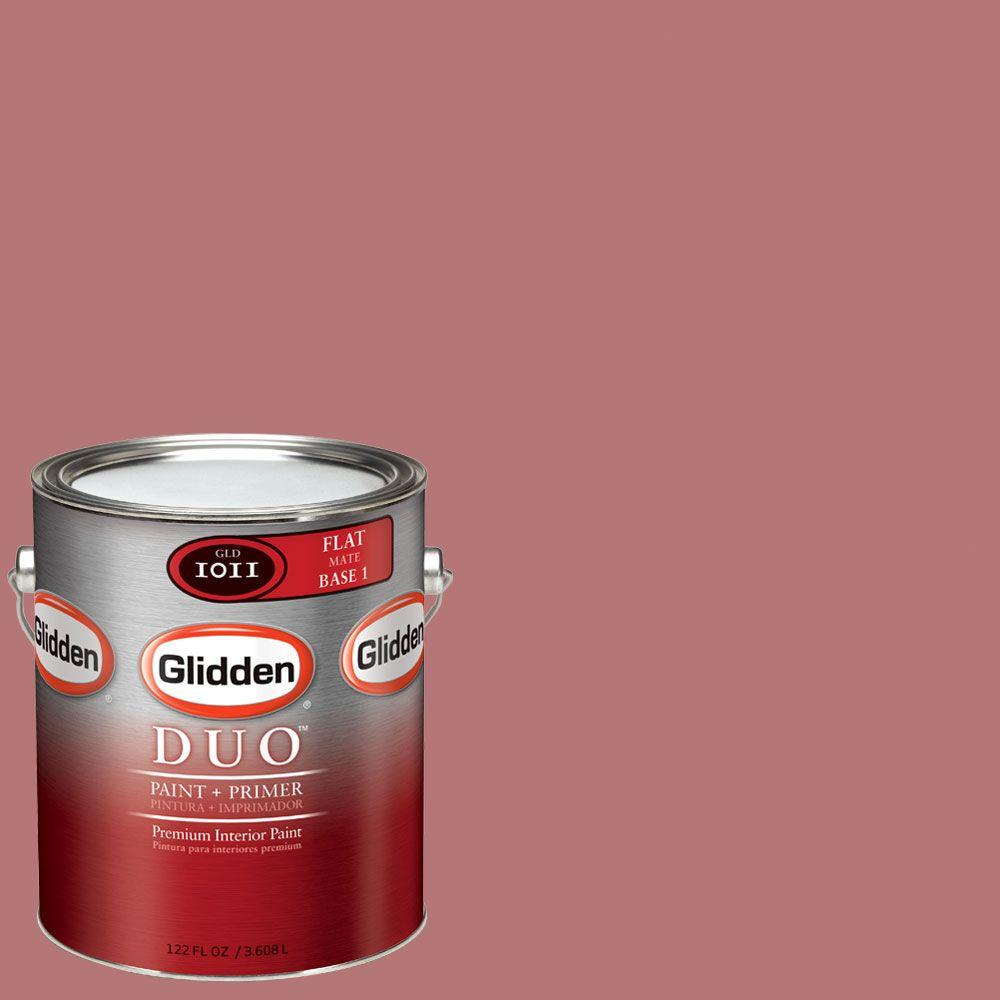 Glidden DUO Martha Stewart Living 1-gal. #MSL010-01F Lupine Pink Flat Interior Paint with Primer-DISCONTINUED