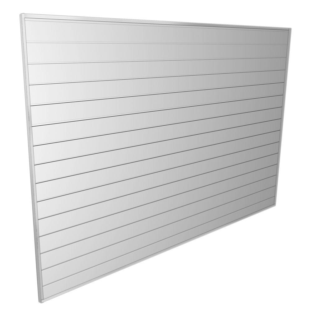 Evolia 8 ft. x 6 ft. Wall Panels and Trims in White
