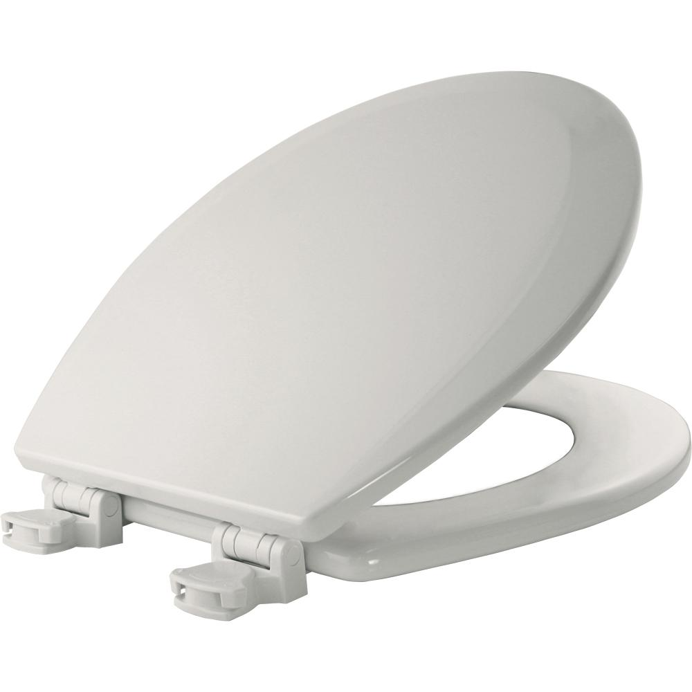 Lift-Off Round Closed Front Toilet Seat in Cotton White