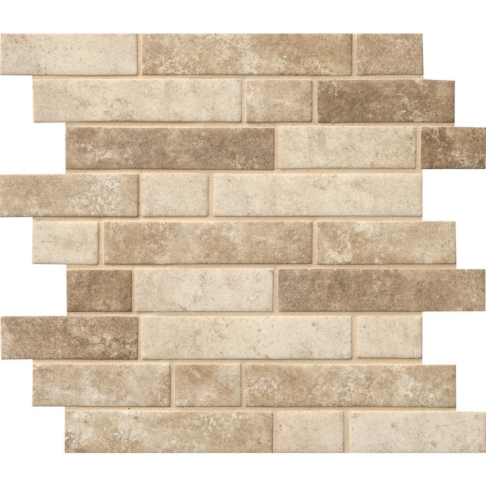 Sandhills Interlocking 12 in. x 12 in. x 6 mm Glass Mesh-Mounted Mosaic Tile (14.55 sq. ft. / case)
