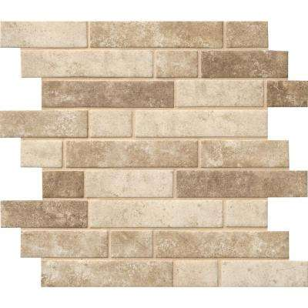 Sandhills Interlocking 12 in. x 12 in. x 6mm Glass Mesh-Mounted Mosaic Tile (14.55 sq. ft. / case)
