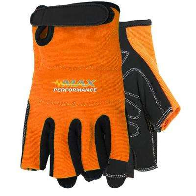 Orange Max Performance Finger-Less Glove