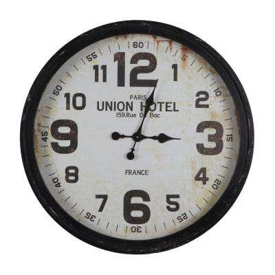 Rue Du Bac Black Oversized Wall Clock
