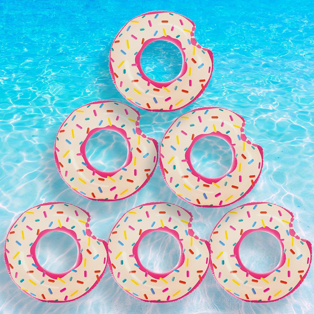Donut Tube Pool Float (6-Pack)