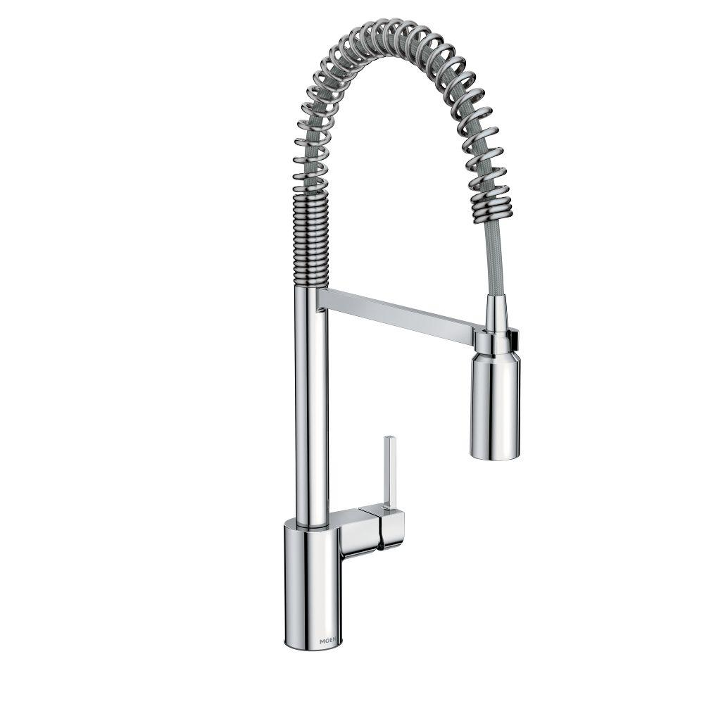 style down faucets pull p kitchen kohler handle k in vibrant vs sd sprayer stainless faucet pro single steel coiled sous