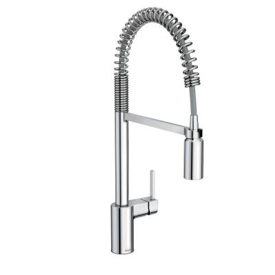 Align Single-Handle Pull-Down Sprayer Kitchen Faucet with Power Clean and Spring Spout in Chrome
