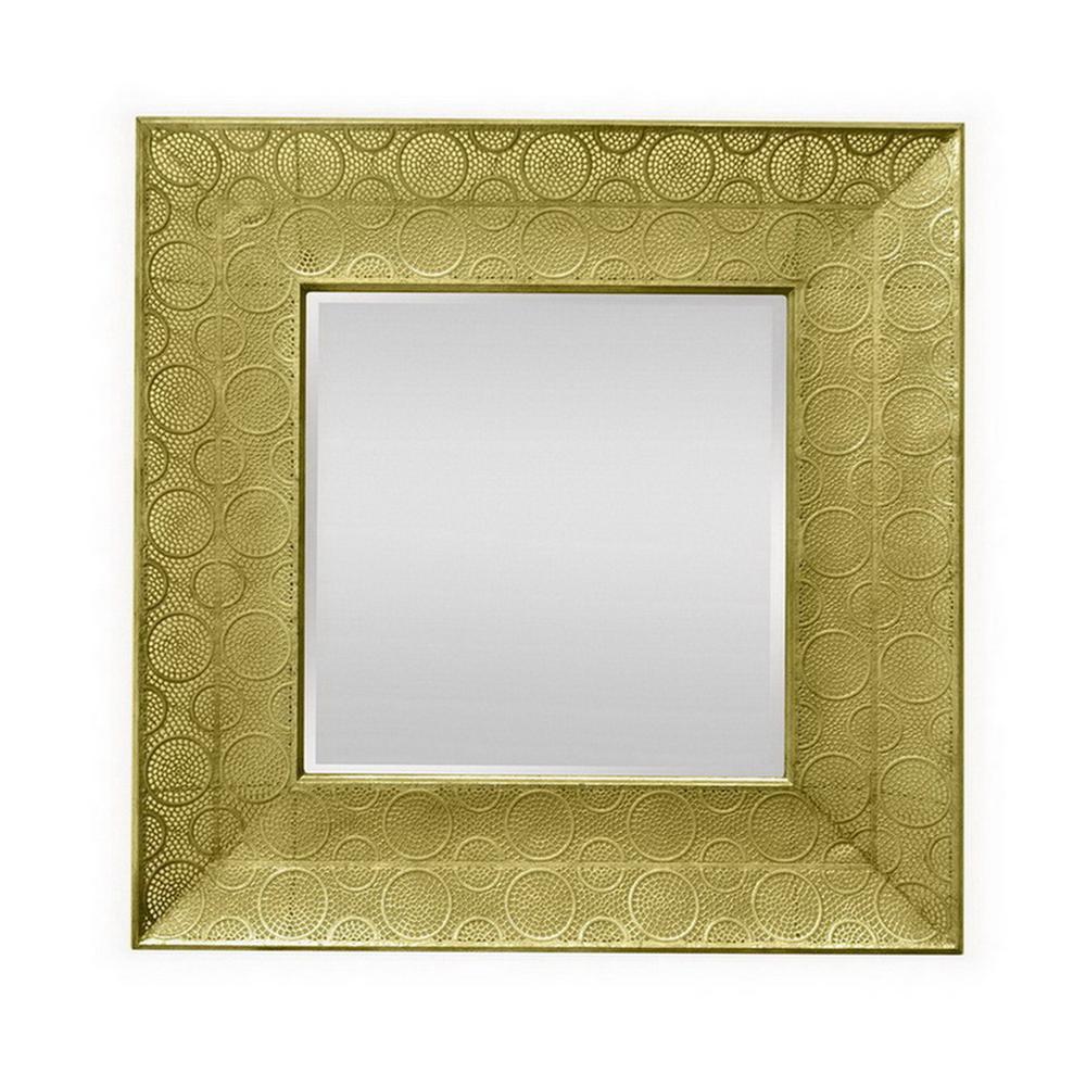 31 in. Beveled Mirror in Gold