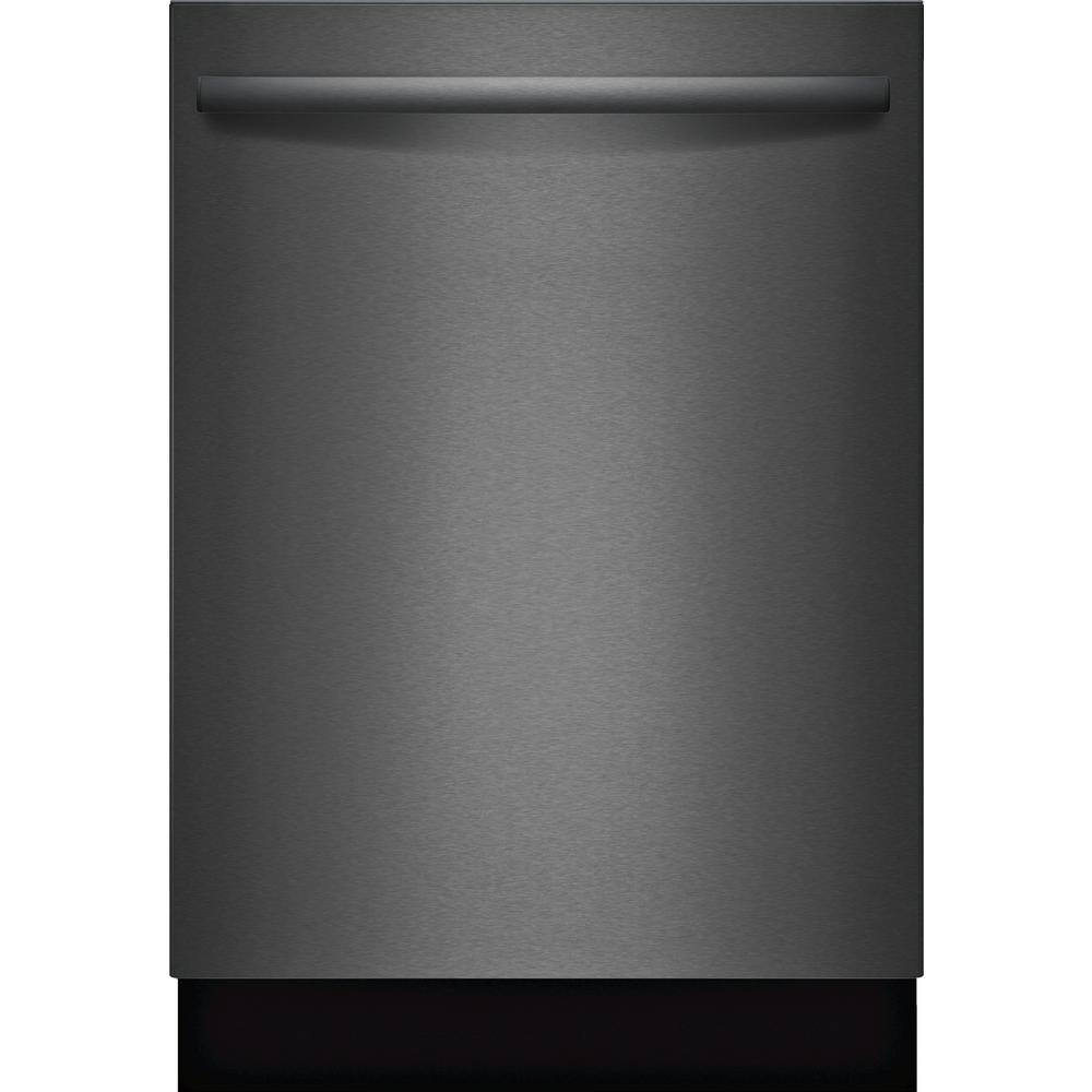 800 Series Top Control Tall Tub Dishwasher in Black Stainless with