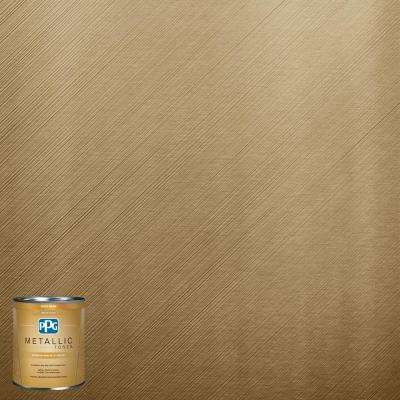 1 qt.#MTL136 Bronzed Ochre Metallic Interior Specialty Finish Paint
