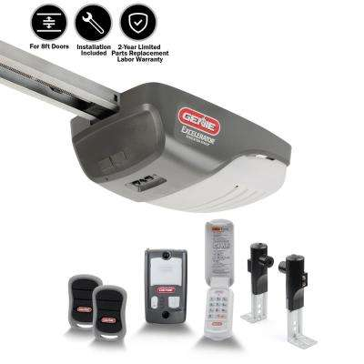 Excelerator 1 HP Screw Drive Garage Door Opener with Installation Bundle (8 ft.)